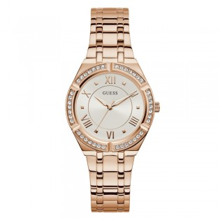 [100% Original] Guess GW0033L3 Women's Analog Quartz Rose Gold Tone Stainless Steel Strap Watch