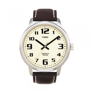 [100% Original] Timex T28201 Unisex's  Analog Quartz Brown Leather Strap Watch