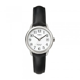 [100% Original] Timex T2H331 Women's Analog Quartz Black Leather Strap Watch