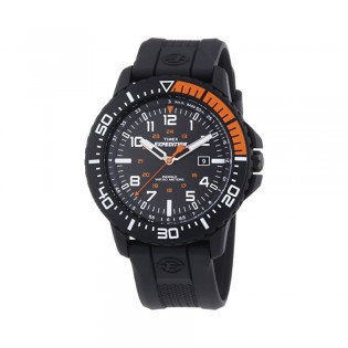 [100% Original] Timex T49940 Men's Analog Quartz Black Silicone Strap Watch