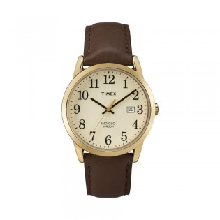 [100% Original] Timex TW2P75800 Men's Analog Quartz Brown Leather Strap Watch