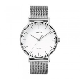 [100% Original] Timex TW2R26600 Men's Analog Quartz Silver Metal Bracelet Strap Watch