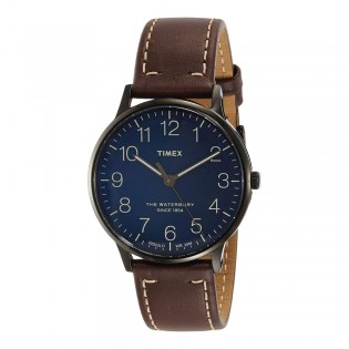[100% Original] Timex TW2R25700 Men's Analog Quartz Brown Leather Strap Watch