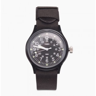 [100% Original] Timex TW2R13800 Women's Analog Quartz Black Nylon Strap Watch