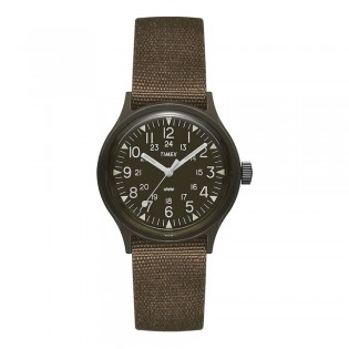 [100% Original] Timex TW2P88400 Men's Analog Quartz Army Green Fabric Strap Watch