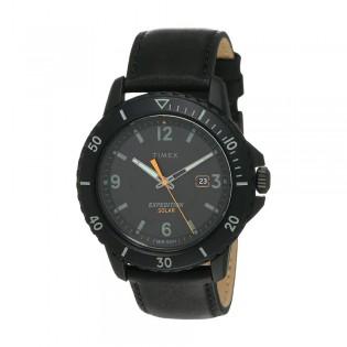 [100% Original] Timex TW4B14700 Men's Analog Quartz Black Leather Strap Watch