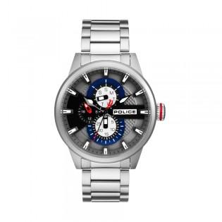 [100% Original] Police PL15509JS/61M Men's  Multifunction Quartz Silver Stainless Steel Strap Watch (watch for man / jam tangan lelaki / police watch for men / police watch / men watch / watch for men)