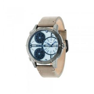 [100% Original] Police PL14699JSU/07 Men's Analog Quartz Grey Leather Strap Watch (watch for man / jam tangan lelaki / police watch for men / police watch / men watch / watch for men)