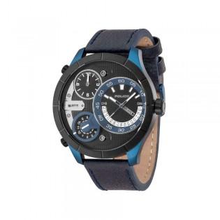 [100% Original] Police PL14638XSBLB/02 Men's Analog Quartz Black Leather Strap Watch (watch for man / jam tangan lelaki / police watch for men / police watch / men watch / watch for men)