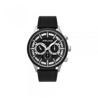 [100% Original] Police PL15412JSTB/02 Men's Chronograph Quartz Black Leather Strap Watch (watch for man / jam tangan lelaki / police watch for men / police watch / men watch / watch for men)