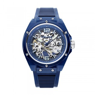 [100% Original] Police PL15924JPBL/48P Men's Analog Automatic Blue Plastic Strap Watch (watch for man / jam tangan lelaki / police watch for men / police watch / men watch / watch for men)