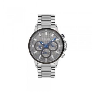[100% Original] Police PL15535JSTB/13M Men's Multifunction Quartz Silver Stainless Steel Strap Watch (watch for man / jam tangan lelaki / police watch for men / police watch / men watch / watch for men)