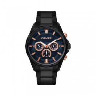 [100% Original] Police PL15369JBB/03M Men's Multifunction Quartz Black Stainless Steel Strap Watch (watch for man / jam tangan lelaki / police watch for men / police watch / men watch / watch for men)