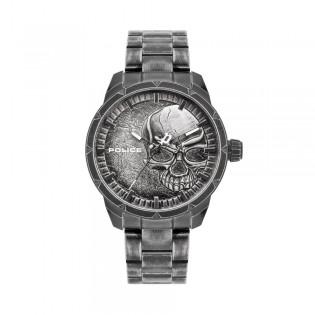 [100% Original] Police PL15715JSQU/78M Men's Analog Quartz Grey Stainless Steel Strap Watch (watch for man / jam tangan lelaki / police watch for men / police watch / men watch / watch for men)
