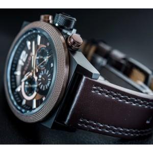 [100% Original] Police PL15529JSBBN/12 Men's Chronograph Quartz Brown Leather Strap Watch (watch for man / jam tangan lelaki / police watch for men / police watch / men watch / watch for men)