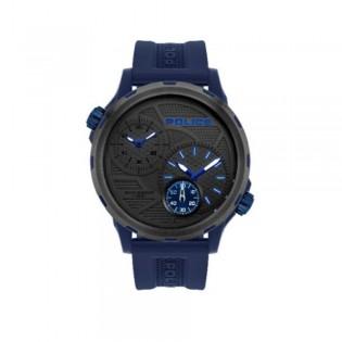[100% Original] Police PL16019JPBLU/13P Men's Chronograph Quartz Blue Silicone Strap Watch (watch for man / jam tangan lelaki / police watch for men / police watch / men watch / watch for men)