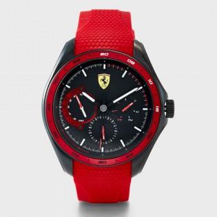 [Official Warranty] Scuderia Ferrari 830681 Men's SPEED RACER Multifunction Quartz Black Dial Red Silicone Strap Watch  (watch for men / jam tangan lelaki / ferrari watch for men / ferrari watch / men watch)