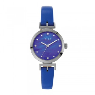 [Official Warranty] Elle ELL21007 Women's Odeon Analog Quartz Blue Leather Strap Watch (watch for women / jam tangan perumpuan / elle watch for women / elle watch / women watch)