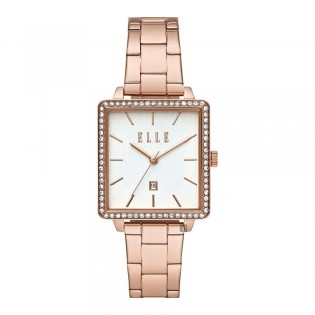 [Official Warranty] Elle ELL21023 Women's Ile De La Cite Analog Quartz Rose Gold Stainless Steel Strap Watch (watch for women / jam tangan perumpuan / elle watch for women / elle watch / women watch)