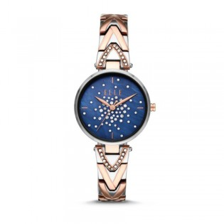 [Official Warranty] Elle ELL21042 Women's Grand Palais Analog Quartz Rose Gold Silver 2-Tone Stainles Steel Strap Watch (watch for women / jam tangan perumpuan / elle watch for women / elle watch / women watch)