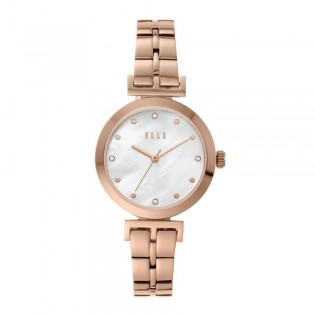 [Official Warranty] Elle ELL21008 Women's Odeon Analog Quartz Rose Gold Stainless Steel Strap Watch (watch for women / jam tangan perumpuan / elle watch for women / elle watch / women watch)