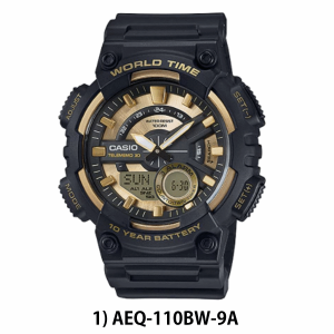 [CLEARANCE SALE]CASIO 100% ORIGINAL AEQ-110W WITH WARRANTY DIGITAL ANALOG MAN SPORT WATCH JAM ORI CASIO SPORT WATCH