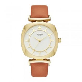 [Official Warranty] Kate Spade KSW1225 Women's Analog Quartz Barrow Brown Leather Strap Watch (watch for women / jam tangan perumpuan / kate spade watch for women / kate spade watch / women watch)