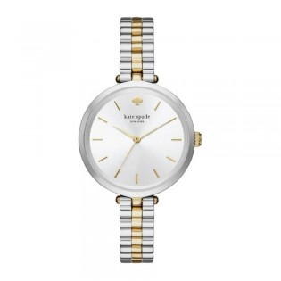 [Official Warranty] Kate Spade KSW1119 Women's Analog Quartz Holland Silver Stainless Steel Strap Watch (watch for women / jam tangan perumpuan / kate spade watch for women / kate spade watch / women watch)