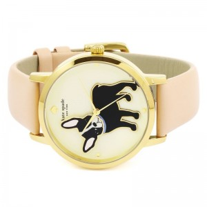 [Official Warranty] Kate Spade KSW1345 Women's Analog Quartz Metro Grand Antoine Cream Dial Pink Leather Strap Watch (watch for women / jam tangan perumpuan / kate spade watch for women / kate spade watch / women watch)