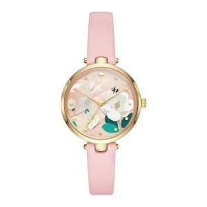 [Official Warranty] Kate Spade KSW1413 Women's Analog Quartz Holland Pink Leather Strap Watch (watch for women / jam tangan perumpuan / kate spade watch for women / kate spade watch / women watch)