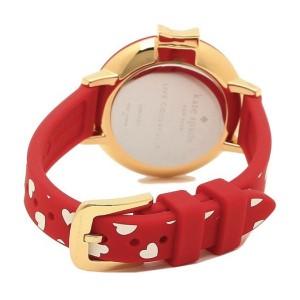 [Official Warranty] Kate Spade KSW1483 Women's Analog Quartz Park Row Red Silicone Strap Watch (watch for women / jam tangan perumpuan / kate spade watch for women / kate spade watch / women watch)