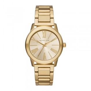 [Official Warranty] Michael Kors MK3490 Women's Analog Quartz Hartman Gold-Tone Stainless Steel Strap Watch (watch for women / jam tangan perumpuan / michael kors watch for women  / women watch)