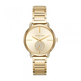 [Official Warranty] Michael Kors MK3639 Women's Analog Quartz Portia Gold-tone Stainless Steel Strap Watch (watch for women / jam tangan perumpuan / michael kors watch for women  / women watch)
