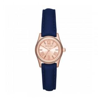 [Official Warranty] Michael Kors MK2539 Women's Analog Quartz Lexington Mini Navy Blue Leather Strap Watch (watch for women / jam tangan perumpuan / michael kors watch for women  / women watch)