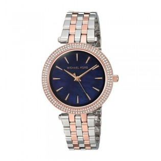 [Official Warranty] Michael Kors MK3651 Women's Analog Quartz Mini Darci Blue Mother of Pearl Dial Stainless Steel Strap Watch (watch for women / jam tangan perumpuan / michael kors watch for women  / women watch)