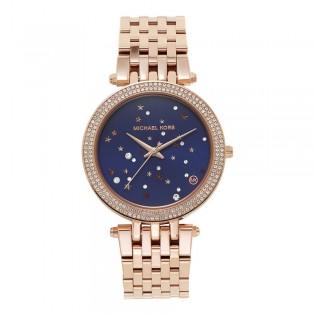 [Official Warranty] Michael Kors MK3728 Women's Analog Quartz Darci Rose Gold Stainless Steel Strap Watch (watch for women / jam tangan perumpuan / michael kors watch for women  / women watch)