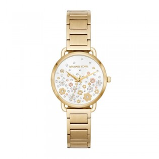 [Official Warranty] Michael Kors MK3840 Women's Analog Quartz Portia Gold-tone Stainless Steel Strap Watch (watch for women / jam tangan perumpuan / michael kors watch for women  / women watch)