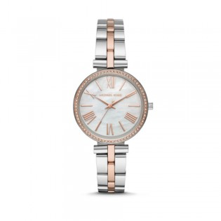 [Official Warranty] Michael Kors MK3969 Women's Analog Quartz Maci White Dial Stainless Steel Strap Watch (watch for women / jam tangan perumpuan / michael kors watch for women  / women watch)
