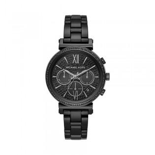 [Official Warranty] Michael Kors MK6632 Women's Chronograph Quartz Sofie Black Stainless Steel Strap Watch (watch for women / jam tangan perumpuan / michael kors watch for women  / women watch)
