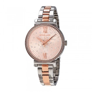[Official Warranty] Michael Kors MK3972 Women's Analog Quartz Sofie Crystal Rose Gold Dial Stainless Steel Strap Watch (watch for women / jam tangan perumpuan / michael kors watch for women  / women watch)