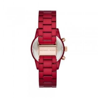 [Official Warranty] Michael Kors MK6665 Women's Chronograph Quartz Ritz Red Stainless Steel Strap Watch (watch for women / jam tangan perumpuan / michael kors watch for women  / women watch)