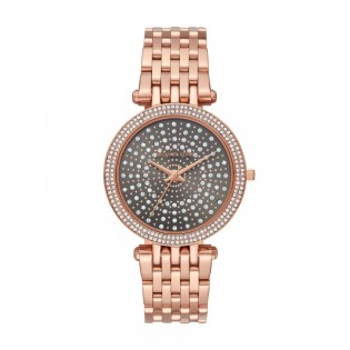 [Official Warranty] Michael Kors MK4408 Women's Analog Quartz Darci Grey Crystal Pave Dial Rose Gold Stainless Steel Strap Watch (watch for women / jam tangan perumpuan / michael kors watch for women  / women watch)