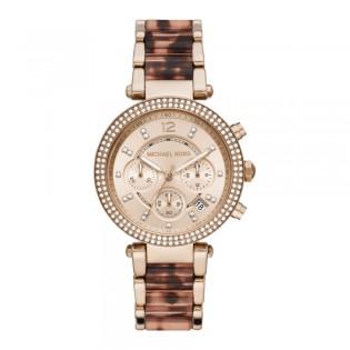 [Official Warranty] Michael Kors MK6832 Women's Chronograph Quartz Parker Stainless Steel Strap Watch (watch for women / jam tangan perumpuan / michael kors watch for women  / women watch)