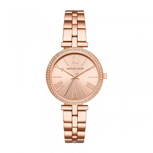 [Official Warranty] Michael Kors MK3904 Women's Analog Quartz Maci Crystal Rose Gold Dial Stainless Steel Strap Watch (watch for women / jam tangan perumpuan / michael kors watch for women  / women watch)