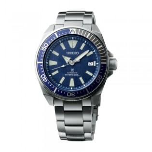 [Official Warranty] Seiko SRPB49K1 Men's PROSPEX Samurai Diver's Analog Automatic Blue Dial Silve Steel Strap Watch (watch for men / jam tangan lelaki / seiko watch for men  / men watch)
