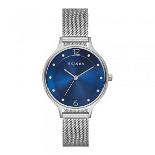 [Official Warranty] Skagen SKW2307 Women's Analog Quartz Anita Blue Dial Stainless Steel Mesh Strap Watch (watch for women / jam tangan perumpuan / skagen watch for women / skagen watch / women watch)