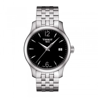 [Official Warranty] Tissot T063.210.11.057.00 Women's Analog Quartz Tradition Black Dial Stainless Steel Strap Watch (watch for women / jam tangan perumpuan / tissot watch for women / tissot watch / women watch)