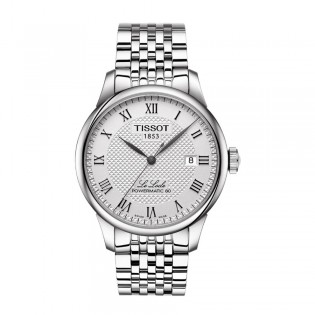 [Official Warranty] Tissot T006.407.11.033.00 Men's Le Locle Powermatic 80 Automatic Analog White Dial Stainless Steel Strap Watch (watch for men / jam tangan lelaki / tissot watch for men / tissot watch / men watch)
