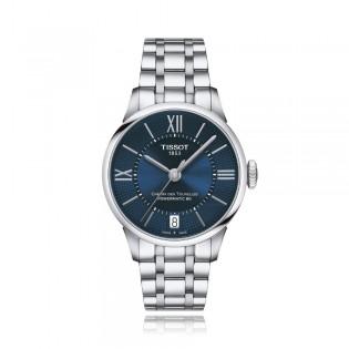 [Official Warranty] Tissot T099.207.11.048.00 Women's Chemin Des Tourelles Automatic Blue Dial Stainless Steel Strap Watch (watch for women / jam tangan perumpuan / tissot watch for women / tissot watch / women watch)
