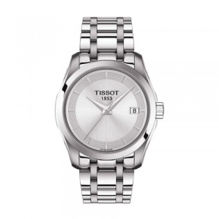 [Official Warranty] Tissot T035.210.11.031.00 Women's Couturier Quartz Silver Dial Stainless Steel Strap Watch (watch for women / jam tangan perumpuan / tissot watch for women / tissot watch / women watch)